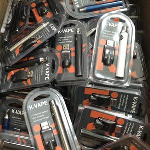 حار K-VAPE التسخين نفطة البطارية مع شاحن USB كيت 1100mAh برعم اللمس VAP القلم الجهد المتغير البطارية لخراطيش G2 G5 AC1003