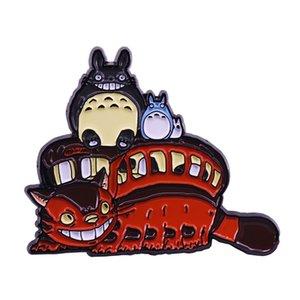 Totoro broches d'émail de bus de chat studio Ghibli et les fans de Miyazaki d'art d'Anime cadeau