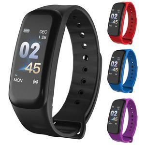 C1 Plus Smart Band Armband mit Blutdrucksauerstoff-Pulsuhr Wasserdichtes Smart Armband für IOS Android-Handy