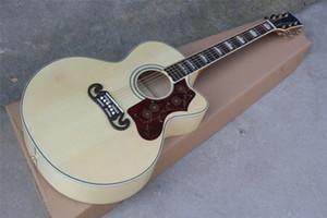 Sintonizadores de oro de 43 pulgadas original Cortado guitarra acústica Cuerpo de palisandro, Rojo golpeador, Se puede personalizar