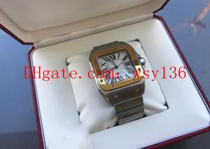 Высочайшее Качество XL 42 мм Авто Мужские 18-каратного Желтого Золота Стали Машины Автоматические Часы W200728G мужские Наручные Часы Box