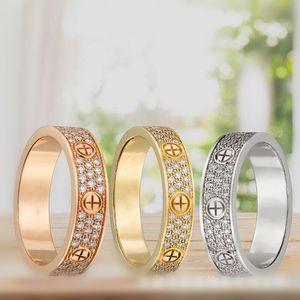 جديد الحب خواتم خاتم الماس الكامل الأزياء سحر التيتانيوم الصلب السيدة الأبدية النجوم خواتم الماس الفرقة الحب خواتم أعلى المربع الأصلي