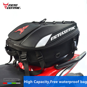 Motocentric Motorcycle Tail Bags Back Seat Bags Travel Bag Waterproof Motorbike Scooter Sports Luggage Rear Seat Rider Backpack Outdoor