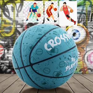 PU Non-slip Wear Resistant Basketball Outdoor Freestyle Ball 7 Balon Street Basketball Sports Competing Training Game Baloncesto