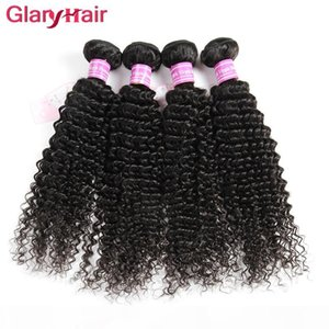 New Fashion Style Glary Hair Products Peruvian Human Hair Weave Bundles Kinky Curly Weaves Soft Cheap Mink Brazilian Hair Extensions