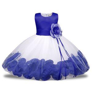 0 a 6 años de edad, para niños pequeños, vestidos y vestidos formales, rosa, azul y blanco, vestido para niñas bebés trajes 2018 verano J190506