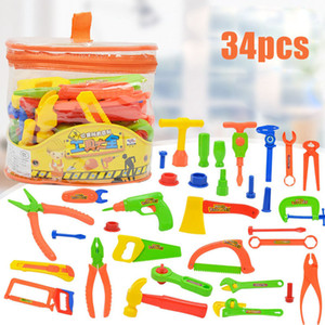 34Pcs Deluxe Repair Tools Set Children's Role Playing Toy DIY Disassembly Toy Portable Tool Table Simulation Repair Kit Educational Toys