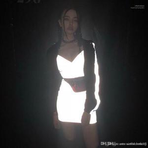 Vestido de noche Summer Club Vestir Moda vestidos de 3M reflectante Mujeres bodycon