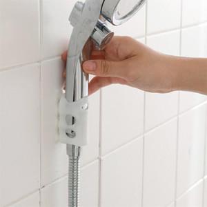2PCS Silicone Duche otário Wall Mount Duche Movable suporte fixo Suporte de aspersão porta acessórios de casa de banho