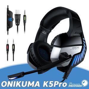2 1에서 스위치 케이블 쿨 LED 램프와 ONIKUMA K5 PRO 블루투스 게임 헤드폰 이어폰 성격 50mm 서브 우퍼 마이크