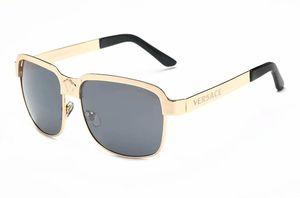 Lujo- Alta calidad Classic Pilot Sunglasses Designer Brand Hombres Mujeres Gafas de sol Gafas Metal Glass Lenses con caja