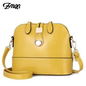 ZMQN bolsos crossbody de cuero Shell amarillas Bolsas Pequeñas señoras de la manera del bolso de mano de la Mujer 2019 niñas lateral Bolsa Feminina A534 Y190606