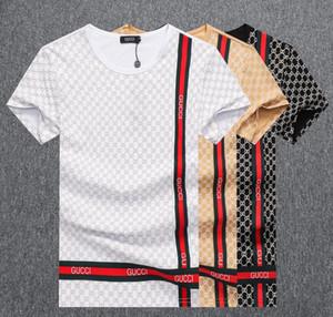 Новые 2020 Футболка Мода Знак Мужские футболки для V шеи хлопок с коротким рукавом Топы Футболки Brands WQS2
