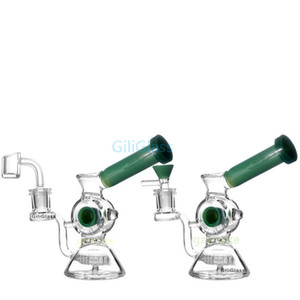 envío de la gota de 6 pulgadas de neumáticos DAB plataforma Bong la fabricación de vidrio del tubo de agua con el neumático estilo y panal difusor de cristal Bongs percolador