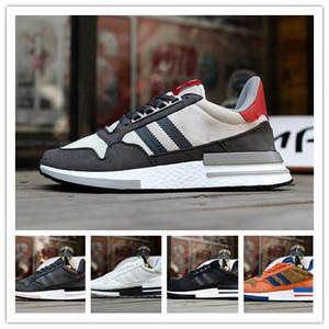 2019 Nouvelle haute qualité ZX500 OG véritable Sneakers en cuir Mesh respirant Exécution Originals ZX500 RM Amorti Chaussures