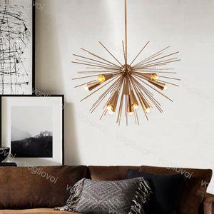 Lampade a sospensione moderna E27 10 teste Design creativo decorazione della casa Lampada a sospensione 110/220 V per sala da pranzo di lusso Living Room Light Light Fixtures DHL