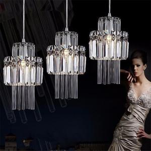 Kreative Kristall führte Kronleuchter Pendelleuchte E14 Industrie Luster Pendelleuchten für Küche Dekorative Hängeleuchte Leuchte