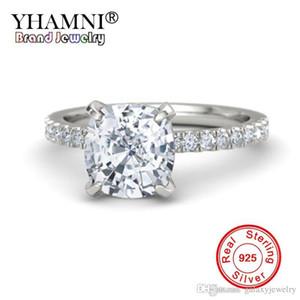YHAMNI Luxury Big 2Ct Cut Cubic Zirconia обручальное кольцо стерлингового серебра 925 кольца для женщин Дамы обручальное подарок ювелирные изделия ZK002