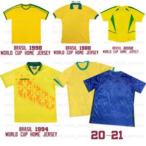 1994 1998 2020Brazil Retro Soccer Jerseys 11 ROMARIO 10 NEYMARJR MARQUINHOS camiseta de futebol Home Away Men Jersey kids