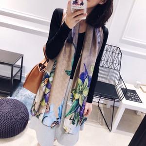 Haute qualité femme foulard en soie lettre foulard carré châle Wraps 180 * 90 cm Dot plaid satin foulard imprimé pour le printemps été automne hiver