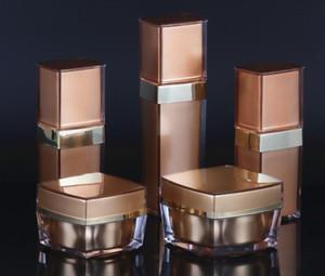 زجاجات التعبئة التجميلية القشطة Acrylic كريم جرة 20G 30G 50G مضخة غسول بلا هواء قنينة 20ml 30ML 50ML SN142