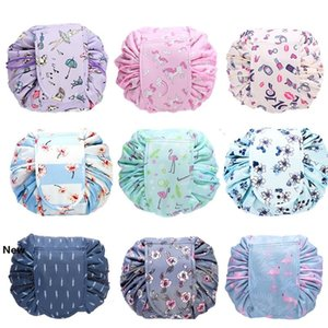 23styles Drawstring Cosmetic Bag Women Lazy Cosmetic Bags Sundry Storage Organizer Travel Makeup Pouch Toiletry Bag Wash Bags GGA3200-3