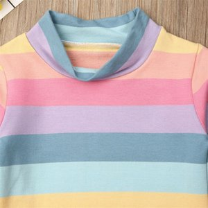 Emmababy 2PCS Toddler Kid Baby Girl Fashion Clothes Long Sleeve Striped Tops T-Shirt Lovely Skirt Outfit Hot Autumn
