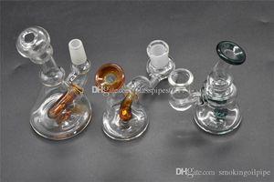 TOP толщиной Pyrex Mini стекла Бонг Dab Bubbler Oil Rig Пьянящие стекла Dab Rigs 14мм Женский мужской стакан Bongs водопроводная труба ресайклинга воды Bongs