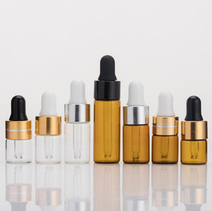 Bunte Dropper Pyrex Glasflasche Lagerung Test Saft Leere 1 ML 2 ML 3 ML 5 ML Mini Kapazität Container Für E-Zigarette Vape Öl Heißer Kuchen DHL