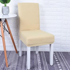 Nouveau Simple Nordic Jacquard tricot Housse de chaise d'impression solide flexible élastique anti-sale fête de mariage Banquet Décoration