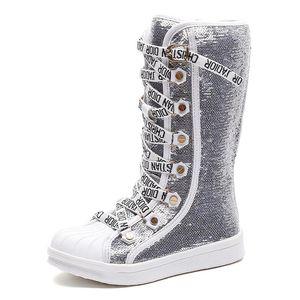 Блестки Pu кожа мальчик ребенок непромокаемую обувь дети дышащий снегоступы девушки дети резиновые нижней моды зимние ботинки младенца