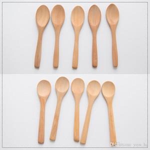 Деревянные Jam Spoon Дети Мед Ложка Кофе Чай Приправа Ложки Кухонные инструменты Посуда столовая посуда Ложки 13 * 2.7cm