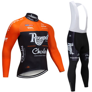 Winter 2021 Team ROOMPOT Cycling Jersey 20D Bike Hosen Set ROPA CICLISMO Dicke Thermal Fleece PRO Bicycling Jacke MAILLOT WEAR
