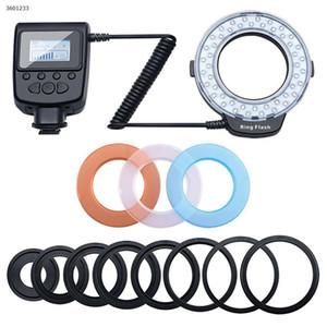محمول LED ماكرو خاتم ضوء فلاش مصباح لنيكون أوليمبوس سوني كاميرا DSLR شاشة LCD عالية الدقة