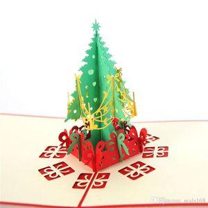 الأحمر عيد الميلاد بطاقات المعايدة 3D اليدوية يطفو على السطح بطاقات معايدة بطاقة هدية عيد الميلاد هدية هدية ورقة حزب بطاقة عطلة دعوة HH9-2511