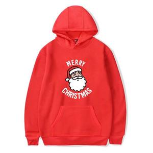 Erkek Baskılı Noel Kapüşonlular Kadınlar Noel Baba Tişörtü Artı boyutu Casual Gevşek Hoodies Sweatshirt Erkek Kadın Kazak Tops bilgilendir