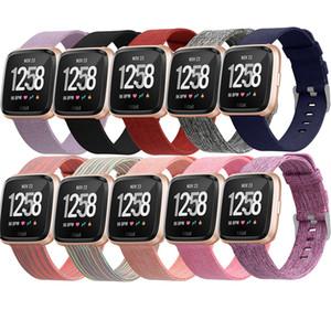 23mm Wrist Strap Armband für Fitbit Versa Woven Fabric Ersatzband für Fitbit Versa Lite Watch Sport Luxury Wrist Strap 64001