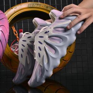 бренд мода роскошь off мужчины женщины Kanye дизайнерская платформа баскетбольная обувь для мужчин 500 bone white glow кроссовки повседневные мокасины star casua
