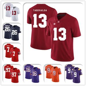 NCAA Alabama 13 Туа Tagovailo Crimson Tide Джерси 8-5 Джо Барроу Джерси 10 Том Брэди Джерси 26 Saquon Barkley 7 Дуэйн Хэскинс Jr Footbal