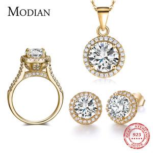 90% di sconto Set di gioielli da sposa per spose Set di orecchini in argento sterling 925 con orecchini in oro color oro
