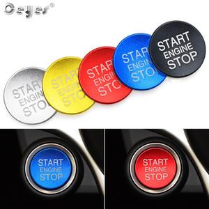 Acessórios Car Engine Start Botão Interior Anel Styling capa para Alfa Romeo Giulietta Stelvio 159 Covers Decoração Auto-