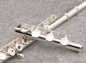 Profesyonel Müzik aletleri SUZUKI 17 Delik Açık Flüt C Tonu Ile Yüksek Kalite Cupronickel Gümüş Kaplama E anahtar, vaka