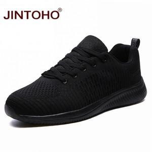 Erkekler Ucuz Casual Erkek Ayakkabı Erkek Sneaker Chaussure için JINTOHO Büyük Beden Siyah Erkekler Sneakers Nefes Moda Günlük Ayakkabılar