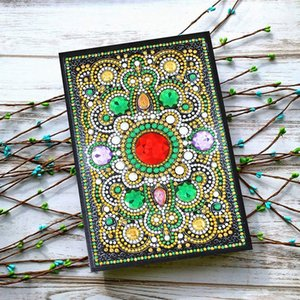 DIY Diamond Mosaic A5 Notebook Special Shaped Diamond Embroidery Diary Book 50 Pages Mandala Pictures Notebook