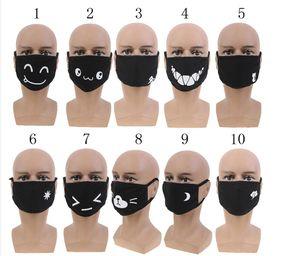 Máscaras Máscara unisex Kpop del polvo anti boca de algodón de dibujos animados linda del animado de la boca de mufla Emoticon triste Masque 10styles DHL durante más de 100PCS