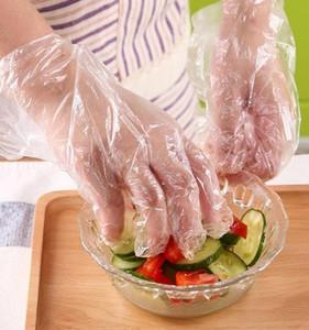 명확한 장갑 플라스틱 일회용 장갑을 위한 레스토랑 주방 바베큐 Eco 친절한 과일 야채 처분할 수 있는 식탁 500PCS 매