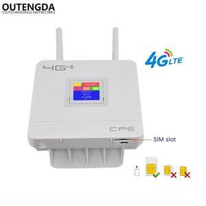 4G WiFi Router 300 Mbps Kablosuz Wi-Fi Mobil LTE / 3G / 4G SIM Yuvası ile Kilitlenmemiş CPE Router 4LAN Bağlantı Noktaları Çoklu Bantları Destekler 32 Kullanıcılar