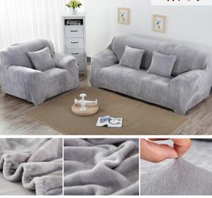Сплошной цвет плюшевой утолщения эластичного дивана для дивана Универсальный секционные кромки 1/2/3/4 местный утяжный диван крышка для гостиной