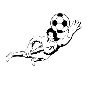 Sport Wall Sticker Removable Soccer Player DIY Wall Decor Decal Kids Boys Room Decor Vinyl Sports Art Mural Wall Sticker
