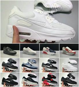 Vente en gros 2019 coussin d'air 90 Chaussures de course Casual pas cher Noir Blanc Rouge 90 Hommes Femmes Tn Chaussures de sport classique Air90 Entraîneur Sports de plein air Chaussures
